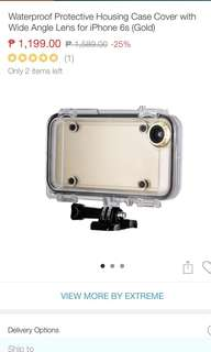 Sale 🚨 Waterproof Protective Housing Case Cover with Wide Angle Lens for iPhone 6/6s
