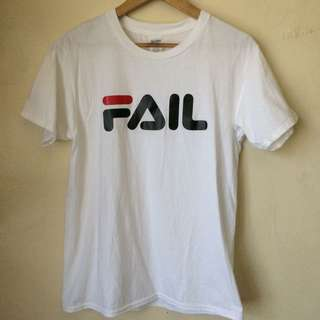 FAIL Shirt Fila Spoof