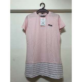 🚚 全新 FILA 運動套裝 粉紅色上衣 灰色長褲 M號