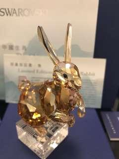 Swarovski 水晶擺設 兔年限量版 連證書