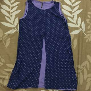 Mango Casual - Violet and Lavender Shift Dress