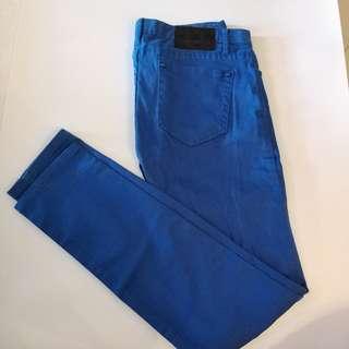 Pants藍色彈性長褲
