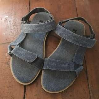 SNUZ Denim Strap Sandal