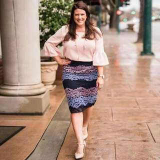 🔴Plus size  Terno top  and skirt