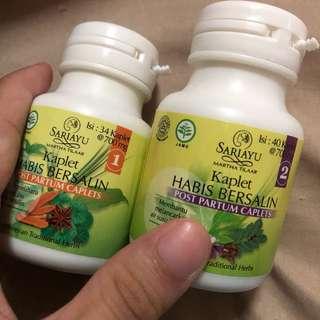 sariayu martha tilaar post natal treatment series jamu capsules