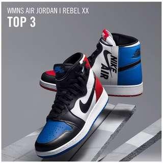 "Women's Air Jordan 1 Rebel XX "" TOP 3"" COLLECTOR'S ITEM LIMITED QUANTITY"