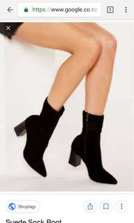 Sock boots with low 6cm heel Size 9**