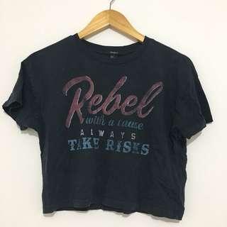 Forever 21 Vintage Rebel Crop Top