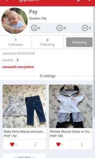 Preloved baby girls apparel (sharing my sister's post)