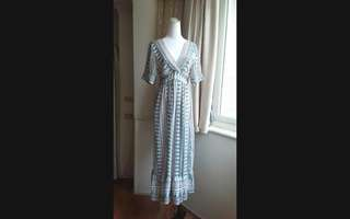 韓系 波西米亞圖騰洋裝罩衫