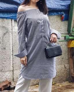 Off Shoulder Smart Casual Dress