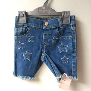 MOTHERCARE Denim Star Shorts size 4 yo celana jeans anak murah