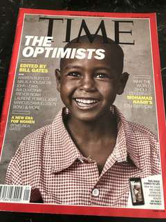 TIME MAGAZINE (this issue comes to live with Augmented Reality!) : topics include The Optimists; A new era for Women