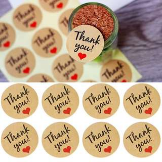 24 pcs Thank You stickers