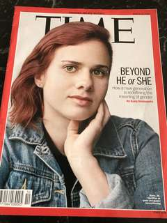 TIME Magazine : topics include Beyond HE or SHE - how a new generation is redefining the meaning of gender