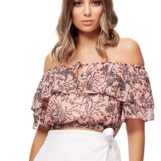 KOOKAI marmont off shoulder top