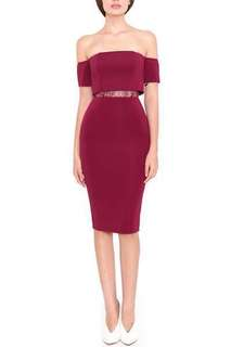 Doublewoot Daliaq Dress in Maroon (Red Wine color) Size S