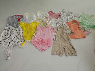 Baby girl clothes bundle 14 pcs