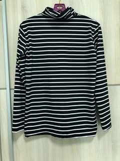 striped turtleneck long sleeve