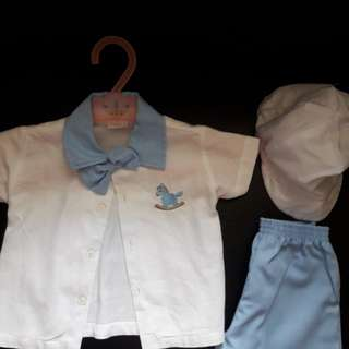 Baby boy baptismal outfit