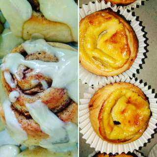 Cinnamon Rolls & Portuguese Egg Tart
