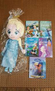 Elsa全新公仔5本二手圖書
