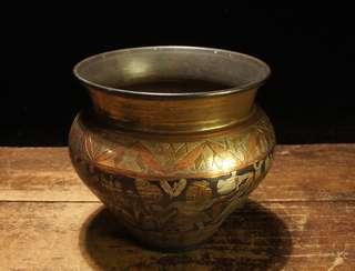 古銅滿工精彫細工建水煎茶道具