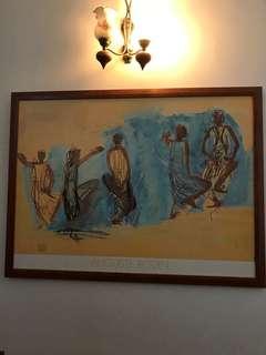 Ikea Auguste Rodin print art wood frame 90cm x120cm