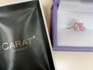 Carat London 9k pink diamond ring