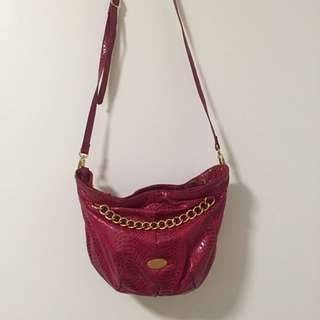 Nine West Magenta With Gold Details Bag