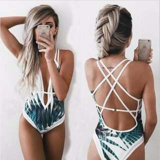Marina Palm Design One Piece Swimwear 1A0005