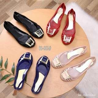 [SALVATORE FERRAGAMO BERMUDA JELLY FLAT 88-805] Sepatu Fashion Wanita Impor Murah