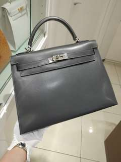 Hermes kelly 32 graphite epsom