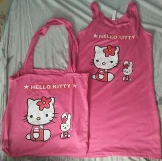 🔥Hello Kitty Dress with bag🔥