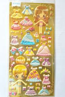 Pop up Baby Doll Scrapbook Stickers
