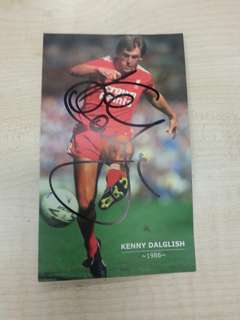 Kenny Dalglish autographed postcard