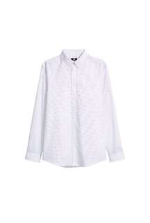 H&M Easy Iron White Spotted Slim fit Shirt