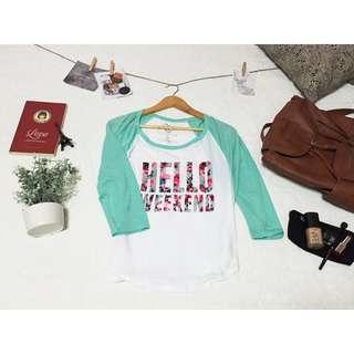 Hello Weekend 3/4 Sleeve Top