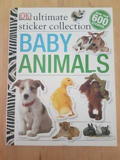 Book - DK Ultimate Sticker Collection: Baby Animals *In good condition!*