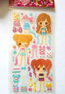 Baby Doll Dress Up Stickers