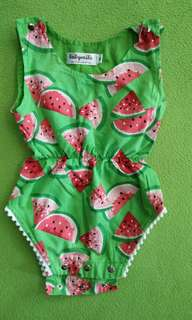Baby Girl Romper watermelom. size M