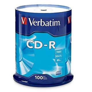 CM Verbatim CD-R 52X 80MIN 700MB 100pcs