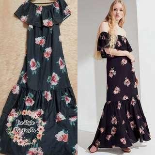 Black Maxi Floral Dress