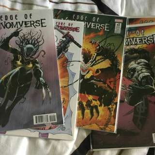 Marvel comics Edge of venomverse 1 to 5 variants