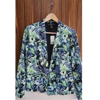 F21 floral blazer