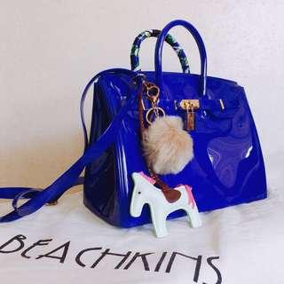 BEACHKINS BLUE JELLY BAG