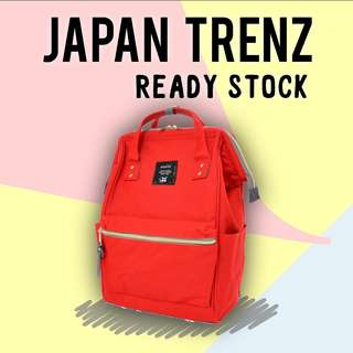 (READY STOCK) Anello Polyester Canvas Backpack (Mini) (AT-B0197B-RED)
