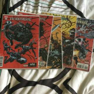 Marvel comics venomverse 1 to 5