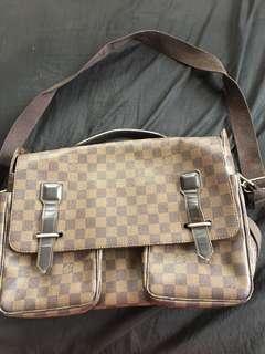 Men VINTAGE LV bag Damier Ebene broadway messenger bag wd date code