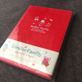 Korean Planner/Schedule Note/Book_colorful & CUTE inside_red cover
